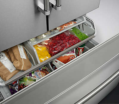 24 Cu Ft 35 Quot Black Stainless Freestanding Refrigerator