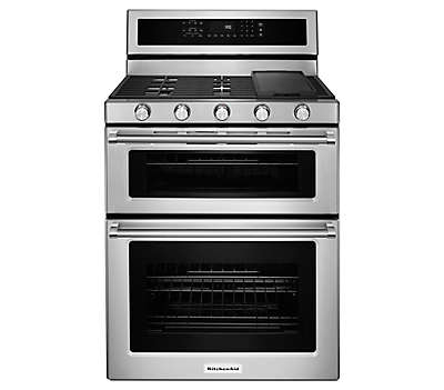 kitchenaid gas range. 30-inch 5 burner dual fuel double oven convection range kitchenaid gas i