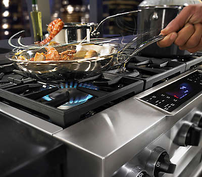 36 6Burner Dual Fuel SlideIn Range CommercialStyle – Kitchenaid 36 Gas Range