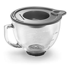 5-Qt. Tilt-Head Glass Bowl with Measurement Markings & Lid