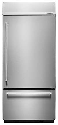 "20.9 Cu. Ft. 36"" Width Built-In Stainless Bottom Mount Refrigerator with Platinum Interior Design"