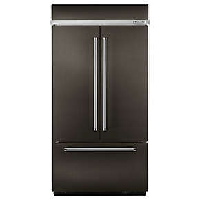 "24.2 Cu. Ft. 42"" Width Built-In Stainless French Door Refrigerator with Platinum Interior Design"