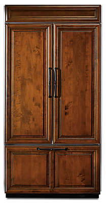 Ft. 42 Inch Width Built In French Door Refrigerator, Overlay Panel Ready