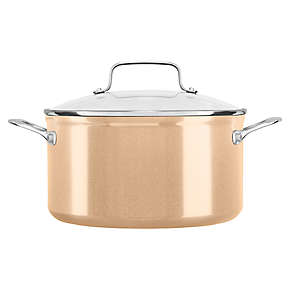 6 Quart Hard Anodized Non-Stick Low Casserole with lid