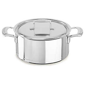 Professional Seven-Ply 5.5-Quart Low Casserole with Lid