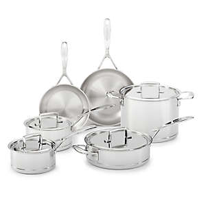 7-Ply Stainless Steel with Copper Core 10-Piece Set