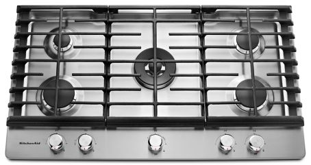 36 5Burner Gas Cooktop KCGS556ESS – Kitchenaid 36 Gas Range