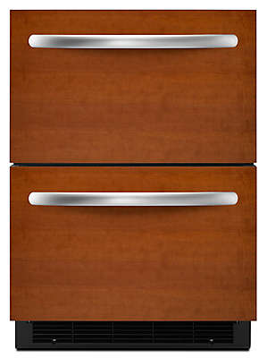 Ft. 24u0027u0027 Double Drawer Refrigerator Overlay Panel Ready