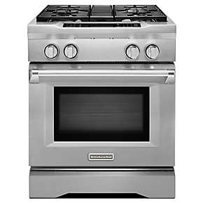 30-Inch 4-Burner Dual Fuel Freestanding Range, Commercial-Style