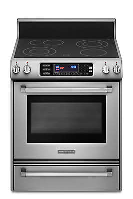 True Convection Oven Glass Cooktop Front Control Knobs Pro Line™ Series  Electric Range