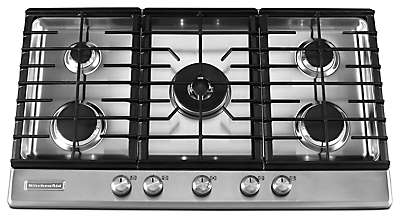 36 Inch 5 Burner Gas Cooktop, Architect® Series II