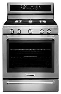 30-Inch 5 Burner Gas Convection Range with Warming Drawer