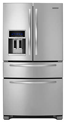 "Kitchenaid Refrigerator White 25 cu. ft. 36"" freestanding refrigerator kfxs25ryms kitchenaid"
