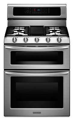 High Quality 5 Burner Gas Freestanding Double Oven Range, Architect® Series II