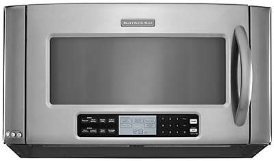 White Kitchen Aid Microwave Over The Range