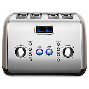 4-Slice Toaster with One-Touch Lift/Lower and Digital Display
