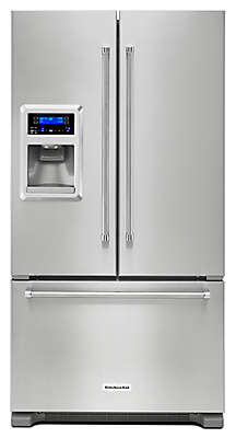 "Kitchenaid Refrigerator White 20 cu. ft. 36"" freestanding refrigerator krfc400ess kitchenaid"