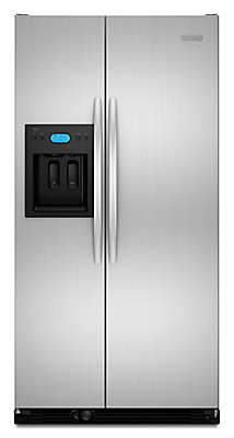 "Kitchenaid Refrigerator Side By Side 25 cu. ft. 36"" freestanding refrigerator kscs25fvss kitchenaid"