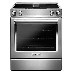 30-Inch 4-Element Electric Downdraft Slide-In Range