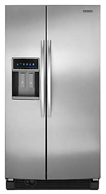 "Kitchenaid Refrigerator Side By Side 26 cu. ft. 35"" freestanding refrigerator ksrl25fxms kitchenaid"