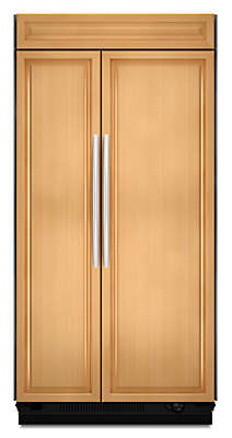 Ft. 48 Inch Width Built In Side By Side Refrigerator, Overlay Panel Ready