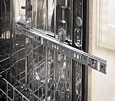 Black Stainless Steel Kitchen Aid Dishwasher Three Shelves