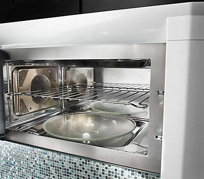 "36"" 4 burner stainless steel microwave hood combination microwave"