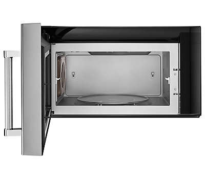 30 stainless steel microwave hood combination hoods and vent kmhs120ess kitchenaid for Microwave oven vent to exterior wall