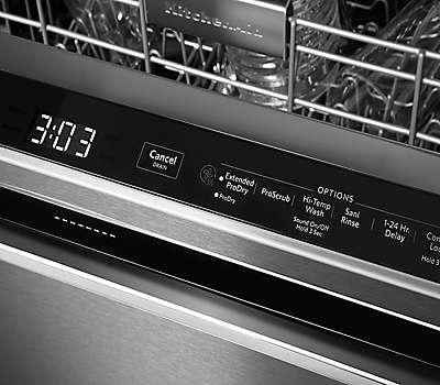 39 Dba Dishwasher With Fan Enabled Prodry System And Printshield Finish Pocket Handle Black
