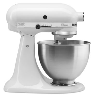 White Kitchenaid classic™ series 4.5 quart tilt-head stand mixer white tilt-head