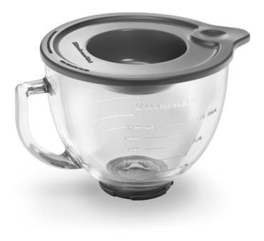 5 Qt Tilt Head Gl Bowl With Measurement Markings Lid K5gb Kitchenaid