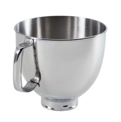 5 Qt. Tilt Head Polished Stainless Steel Bowl With Comfortable Handle
