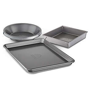 Product Bundle - Professional-Grade Nonstick Bakeware Set with Pie Pan