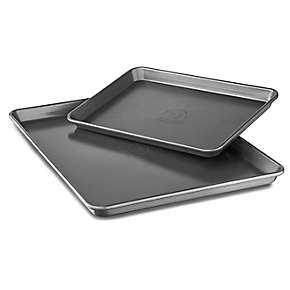 Professional-Grade Nonstick Quarter Sheet and Half Sheet Pan - Set of 2