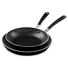 "Aluminum Nonstick 10"" and 12"" Skillets Twin Pack"