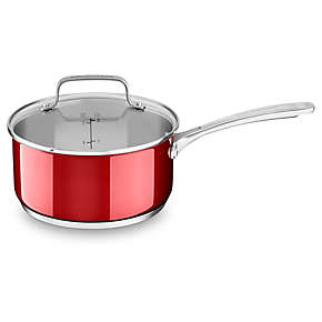 Stainless Steel 3.0 Quart Nonstick Saucepan with lid
