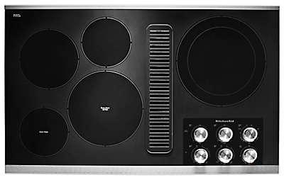 Kitchenaid Cook Tops downdraft gas & electric cooktops | kitchenaid