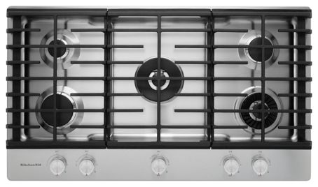 36 5Burner Gas Cooktop with Griddle KCGS956ESS – Kitchenaid 36 Gas Range