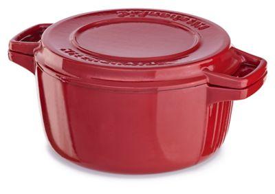 Kitchenaid Dutch Oven professional cast iron 6-quart casserole (kcpi60crer)   kitchenaid®