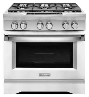 Beautiful 36u0027u0027 6 Burner Dual Fuel Freestanding Range, Commercial Style (KDRS467VMW) |  Kitchenaid®