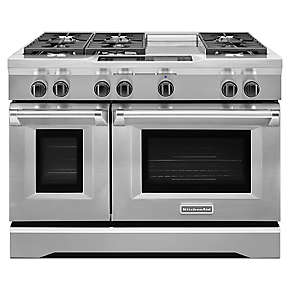 48-Inch 6-Burner with Steam-Assist Oven, Dual Fuel Freestanding Range, Commercial-Style