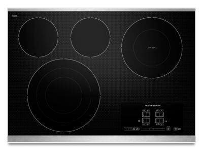 30u0026quot; Electric Cooktop With 4 Radiant Elements And Touch Activated  Controls