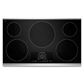 "36"" Electric Cooktop with 5 Radiant Elements and Touch-Activated Controls"