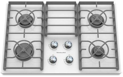 Great 30 Inch 4 Burner Gas Cooktop, Architect® Series II (KGCC506RWW) | Kitchenaid ®