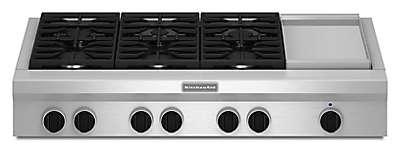 Kitchenaid 6 Burner Gas Cooktop see all stovetops | kitchenaid