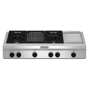 48-Inch 4 Burner Gas Rangetop, Commercial-Style