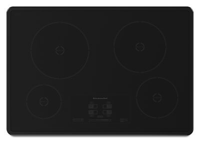 30inch 4 element induction cooktop architect series ii kicu500xbl kitchenaid