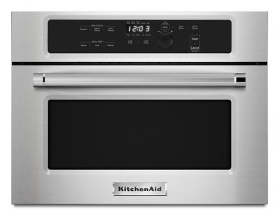 """Kitchenaid Microhood 24"""" built in microwave oven with 1000 watt cooking (kmbs104ess"""