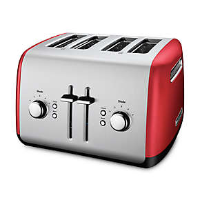 4-Slice Toaster with Manual High-Lift Lever