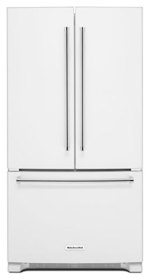 Kitchenaid Refrigerator White 20 cu. ft. 36-inch width counter-depth french door refrigerator